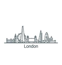 Outline London banner vector image