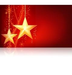 Red golden christmas theme vector
