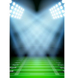 Background for posters night football stadium in vector image vector image