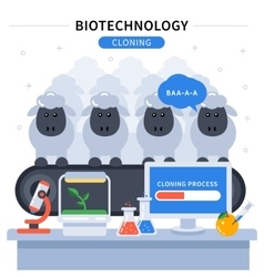 Biotechnology Colored Banner vector image