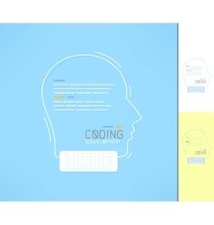 Coder and developer profile programmer silhouette vector