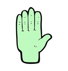 comic cartoon zombie hand vector image