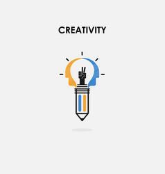 creative light bulb and success concept vector image