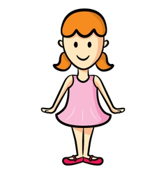 cute girl wearing ballet costume vector image