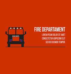 fire dept logos and banners vector image