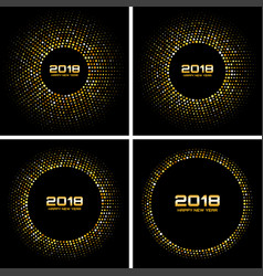 happy new year 2018 card backgrounds vector image vector image