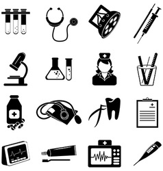 Healthcare and medical icons set vector image