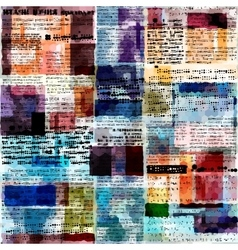 Imitation of newspaper vector image vector image
