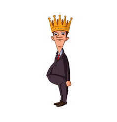 man with a crown vector image vector image