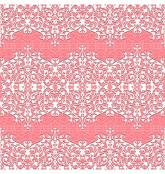 Seamless Floral Pattern lace background vector image vector image