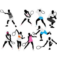 tenis players vs vector image