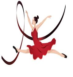 young woman dancing vector image vector image