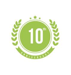 10th anniversary template design vector