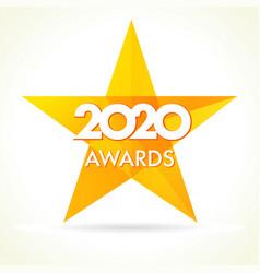 2020 awards star logo vector image
