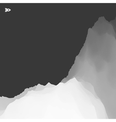 3d mountain landscape mountainous terrain vector