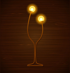 abstract wine glass vector image