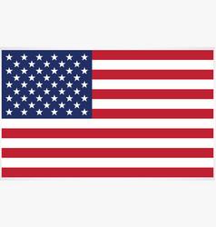 Accurate correct usa flag vector