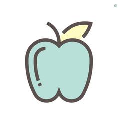 apple icon design for food graphic design element vector image