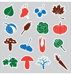 autumn stickers eps10 vector image