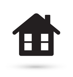 black house icon vector image
