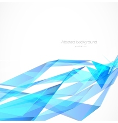 blue polygonal background vector image