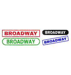 Broadway rectangle seals with unclean surface vector