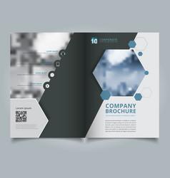 Brochure geometric hexagon layout design template vector