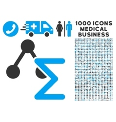 Chemical Formula Icon with 1000 Medical Business vector image