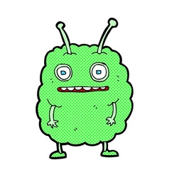Comic cartoon funny alien monster vector