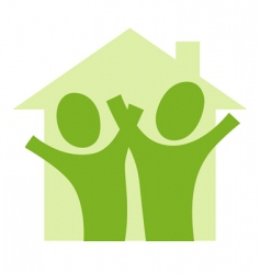 couple in house vector image
