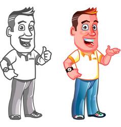 Dandy Man Cartoon Mascot vector