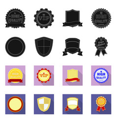 design of emblem and badge sign set of vector image