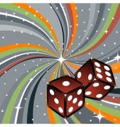 dice vector image