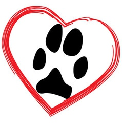 Dogs paw vector