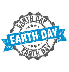 Earth day stamp sign seal vector