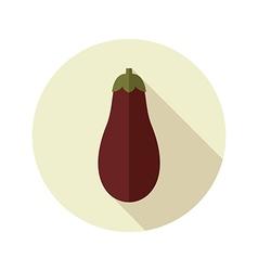 Eggplant flat icon Vegetable vector