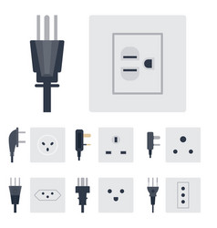 Electric outlet energy socket vector