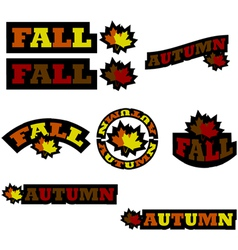 Fall icons vector