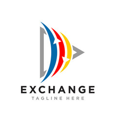 financial marketing business logo vector image