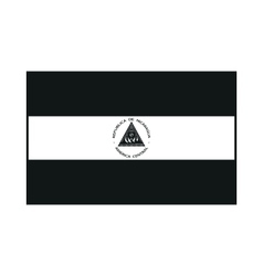 Flag of Nicaragua monochrome on white background vector image