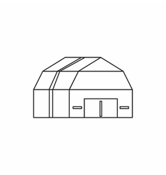 Garage storage icon outline style vector