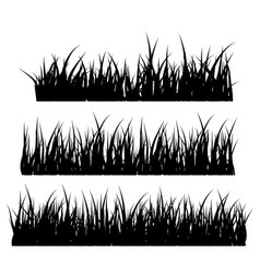 grass silhouette symbol icon design vector image