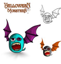 Halloween freak bat eps10 file vector