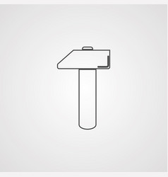 hammer icon sign symbol vector image