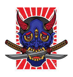 hannya mask t shirt design vector image