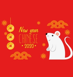 Happy new year chinese 2020 with rats and vector