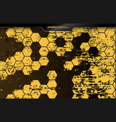 Hexagon grid dusty dirty background grunge style vector