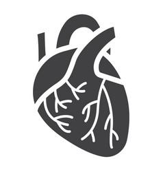 human heart glyph icon medicine and healthcare vector image