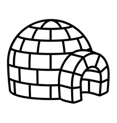 Igloo icon outline style vector