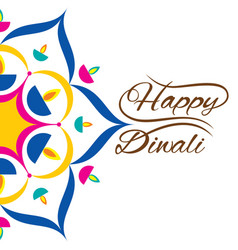 indian festival for diwali celebration greeting vector image